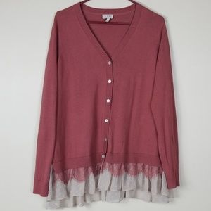 LOGO Lace Cardigan  Size L